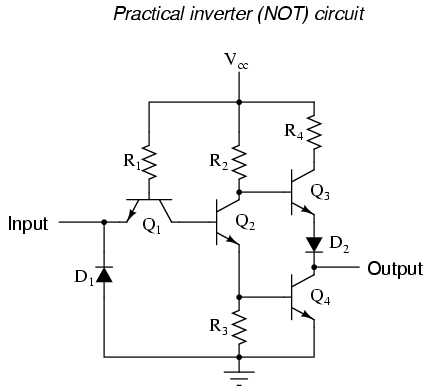 This Circuit Is Composed Exclusively Of Resistors And Bipolar Transistors Bear In Mind That Other Designs Are Capable Performing The NOT Gate